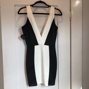 NWT Nasty Gal Black and White Mini Dress
